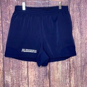 RUGGERS navy rugby athletic shorts size small 32